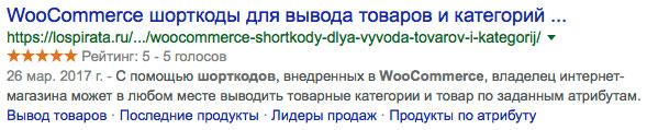 Содержание статьи в Google